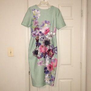 ASOS Textured Floral Wiggle Dress